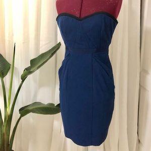 BCBG Strapless Navy Blue Dress